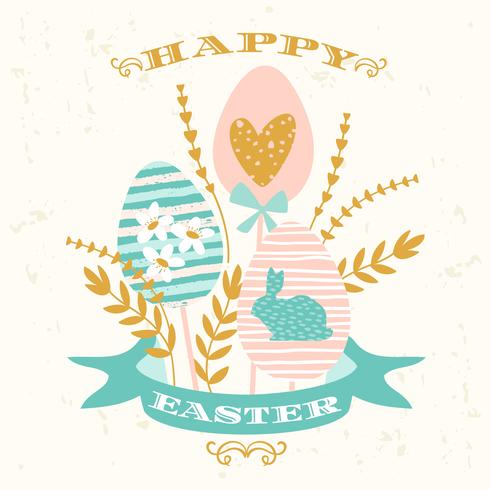 Happy Easter. Vector design
