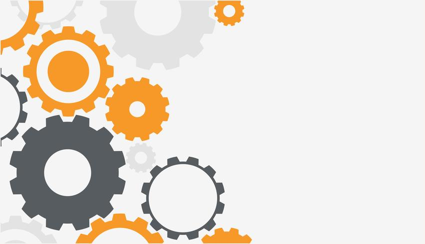 Background template with colorful gears - Download Free ...