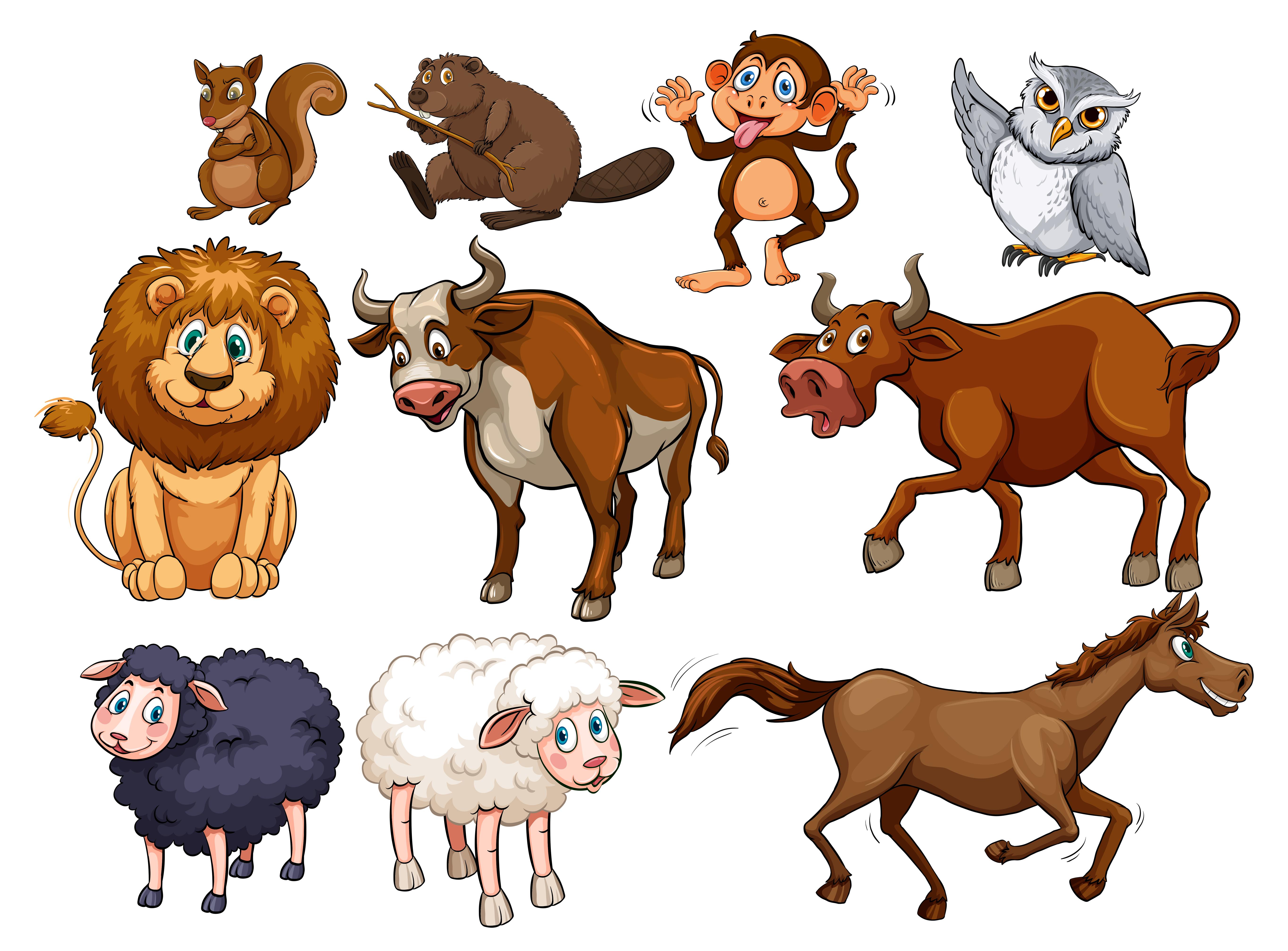 卡通動物 免費下載 | 天天瘋後製