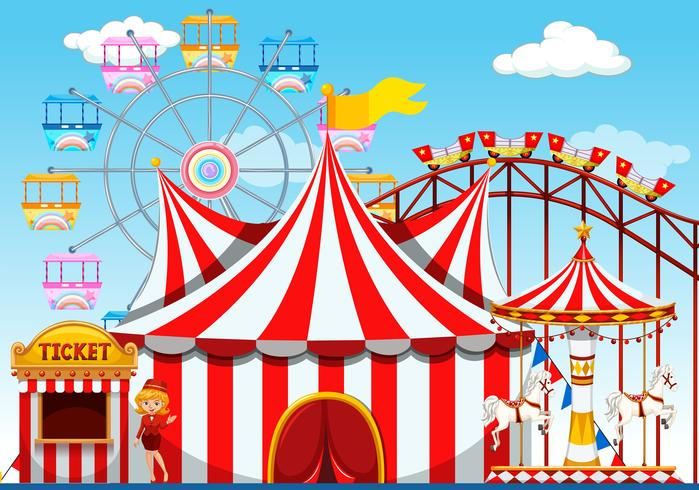 A theme park background vector