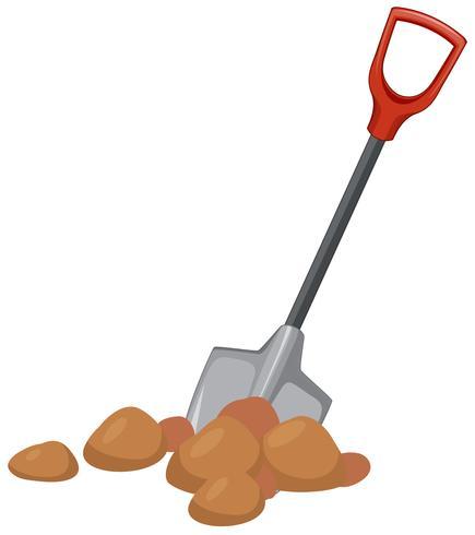 Une pelle creusant le sol