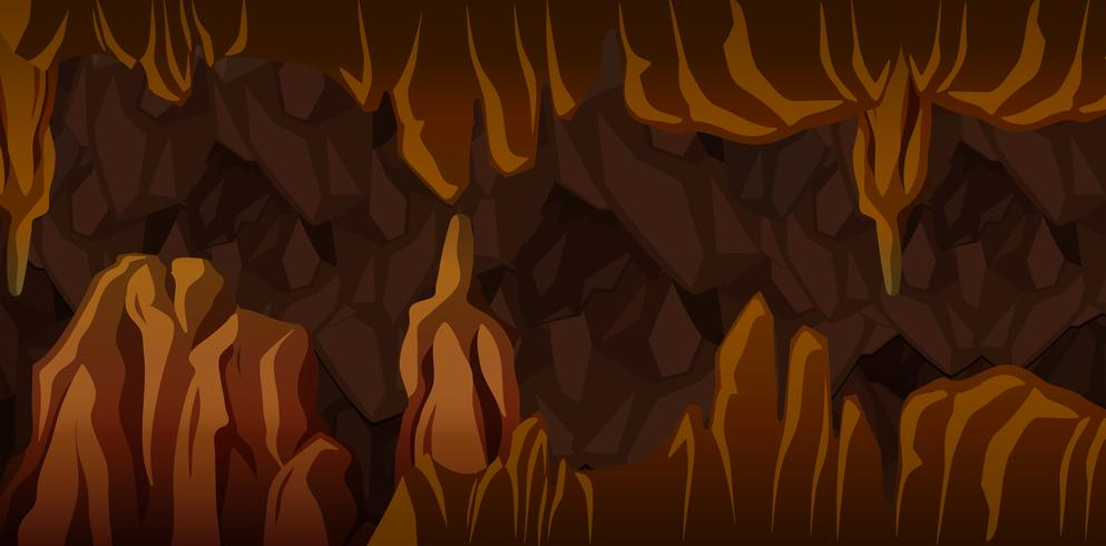 Escena de paisaje de caverna subterránea