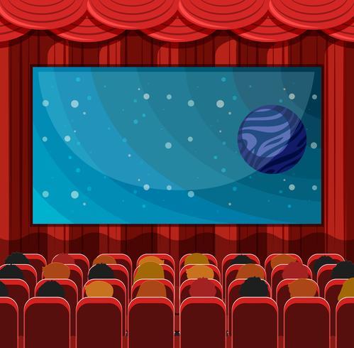 A scene of a cinema