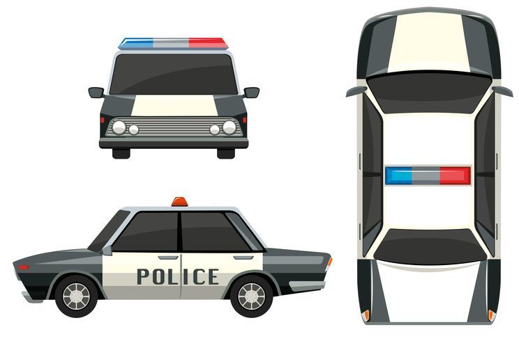 Polizeiwagen aus verschiedenen Ansichten