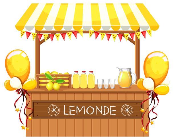 Een houten limonadewinkel