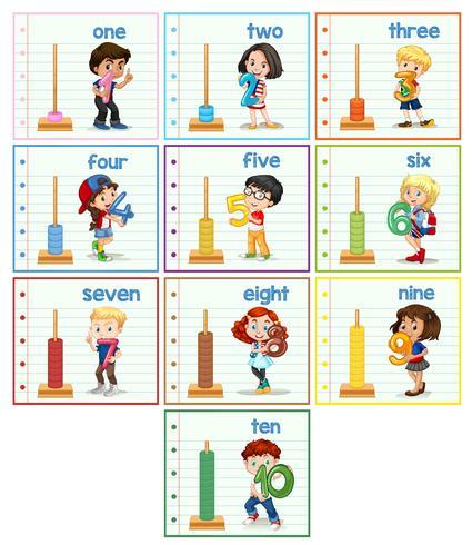Set van kinderen hilding nummer