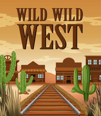 Cartel para la ciudad del oeste salvaje