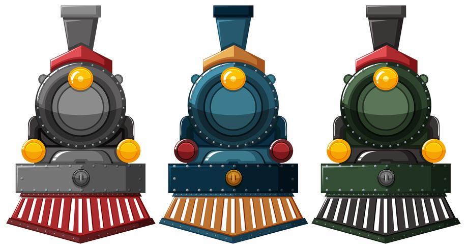 Moteurs à vapeur en trois couleurs
