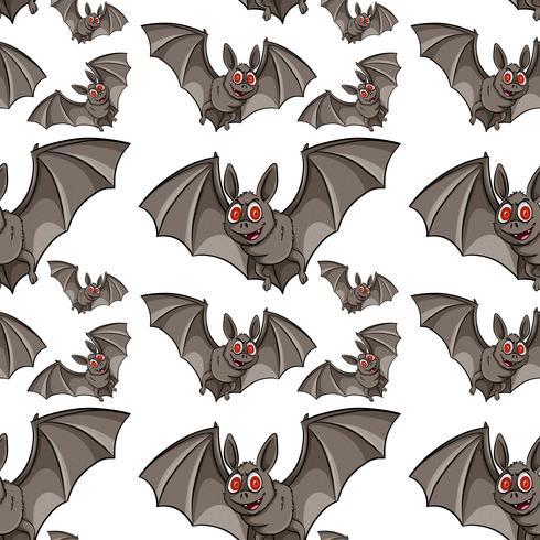 Naadloze achtergrond met vleermuizen