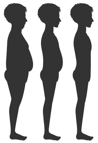 A Human Body Transformation Template vector