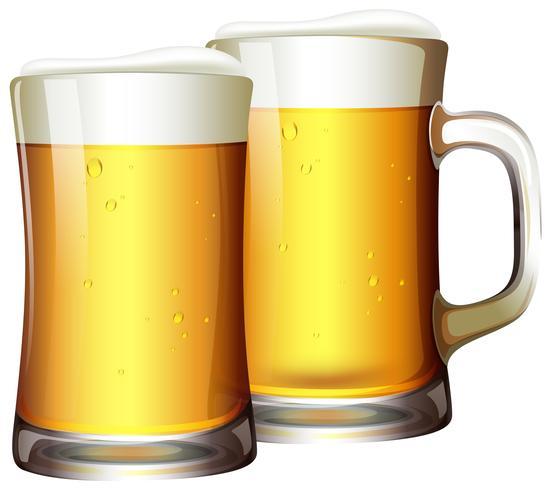 En uppsättning öl i rån