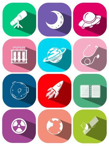 Símbolo de tecnologia em ícones quadrados