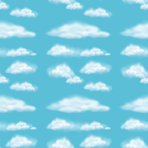 Design de fond transparente avec des nuages moelleux
