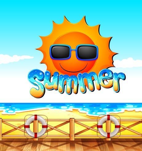 Sommar tema med hav och sol