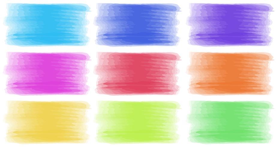 Coups de pinceau de différentes couleurs