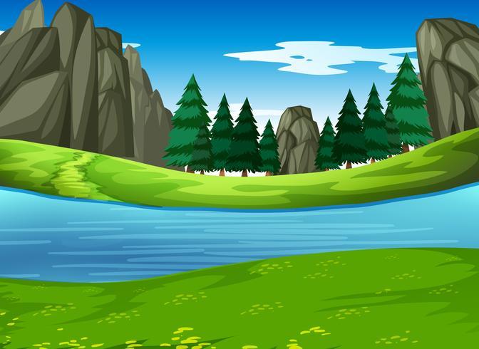 Uma natureza paisagem verde