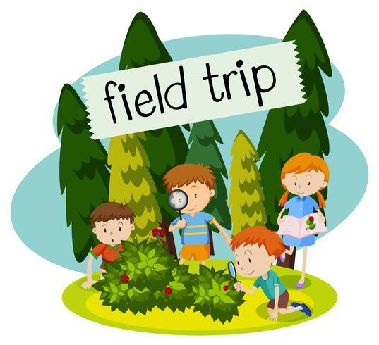 Scuola Field Trip nella natura