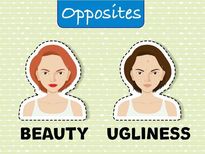 Palavras opostas para a beleza e a feiúra