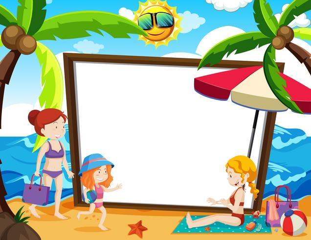 Een whiteboard met zomerthema
