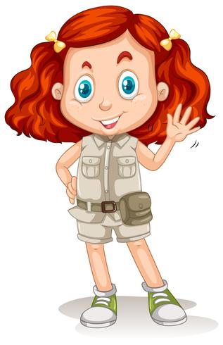 The Girl with Red Hair in Safari Suit - Download Free Vector Art, Stock Graphics & Images