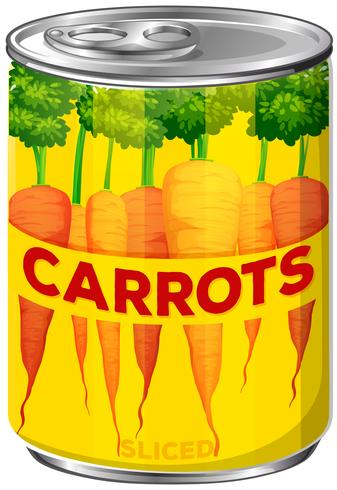 Uma lata de cenoura fatiada