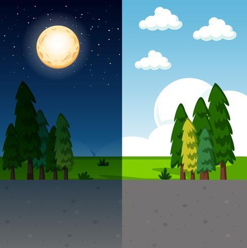 Dag och natt natur scen
