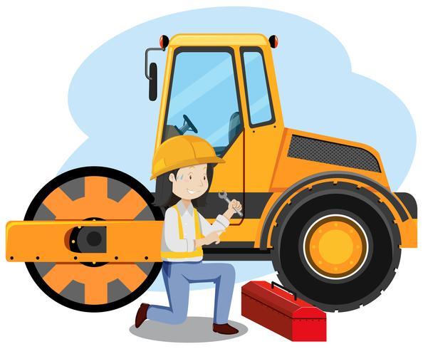 Mechaniker Engineer auf weißem Hintergrund