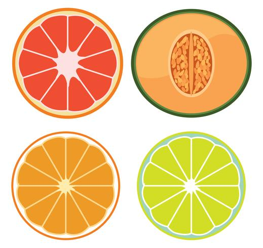 Ein Satz geschnittene Früchte