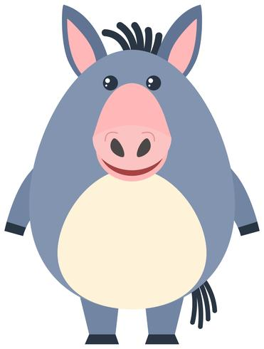 Cute donkey with happy face