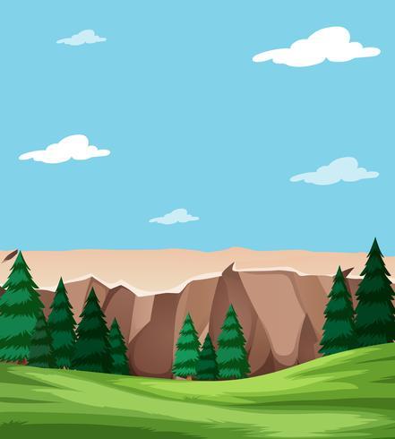 Escena de paisaje de naturaleza hermosa