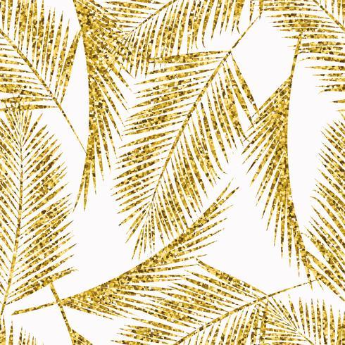 Modèle exotique sans couture avec des silhouettes de feuilles de palmier. vecteur