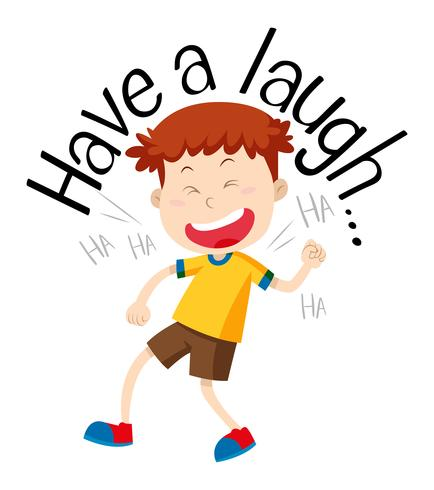 Frase De La Palabra Para Tener Una Risa Con Niño Riendo