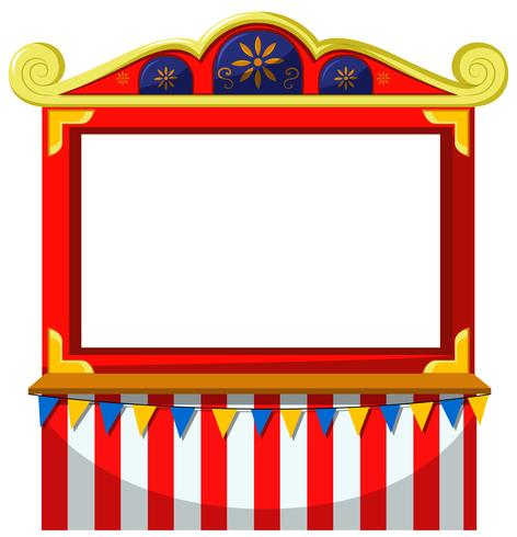 Circus theme blank banner