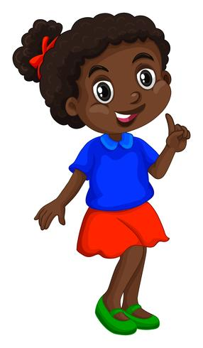 African american girl in blue shirt