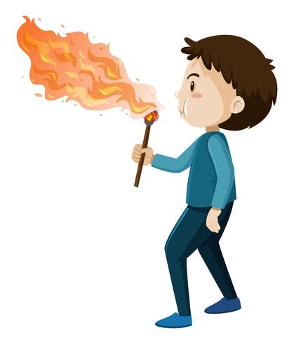 A Fire Blower on White Background