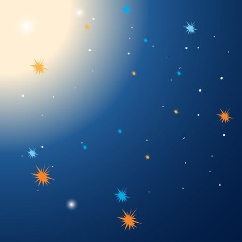 Modelo de plano de fundo com estrelas à noite