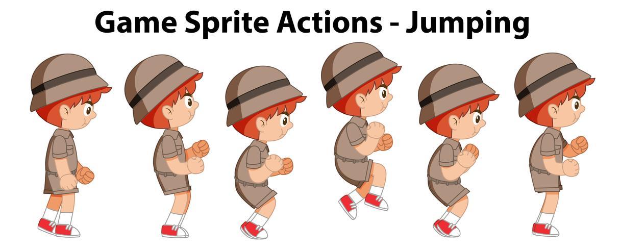 Ações de sprite jogo - salto