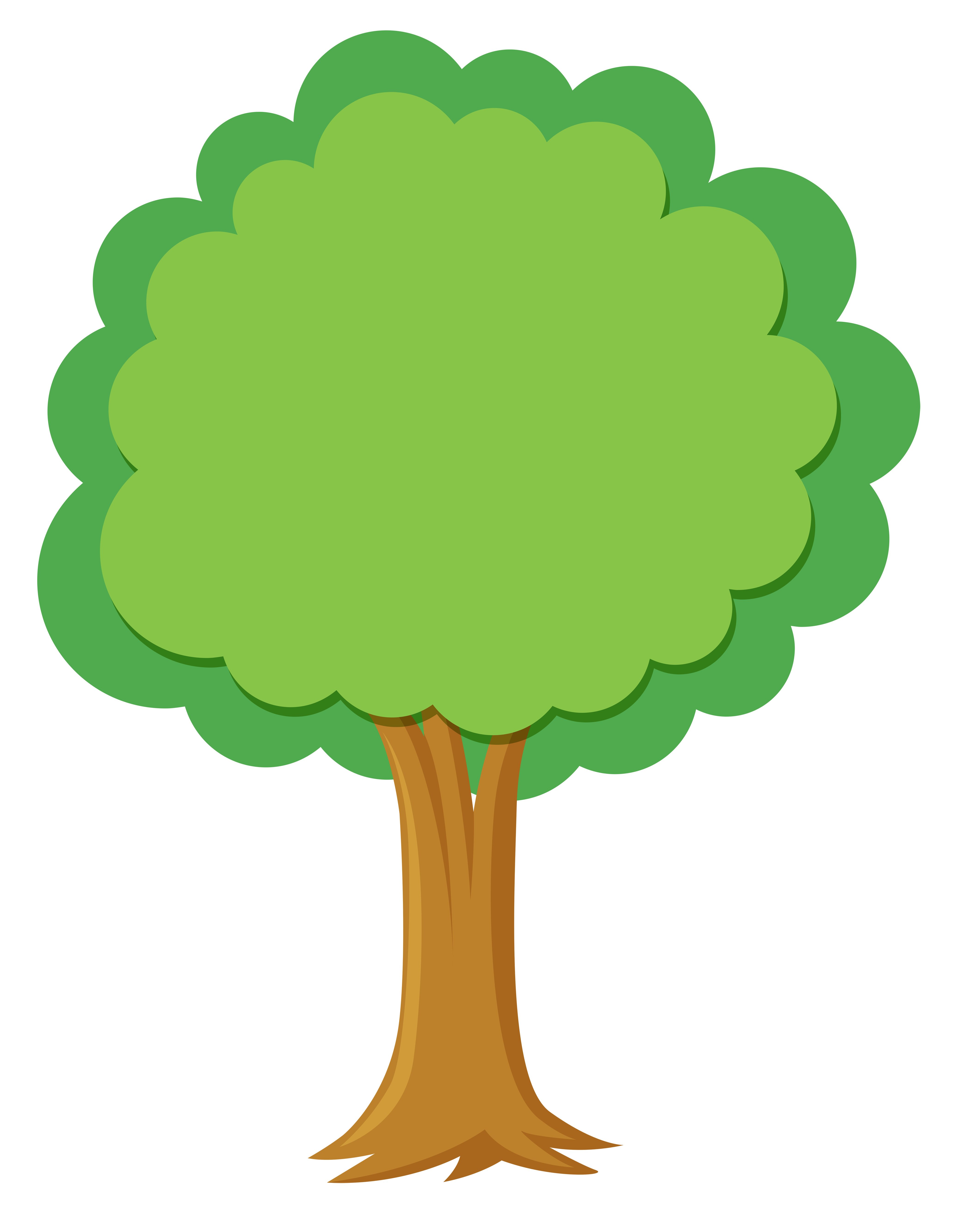 A simple tree on white background - Download Free Vectors ...