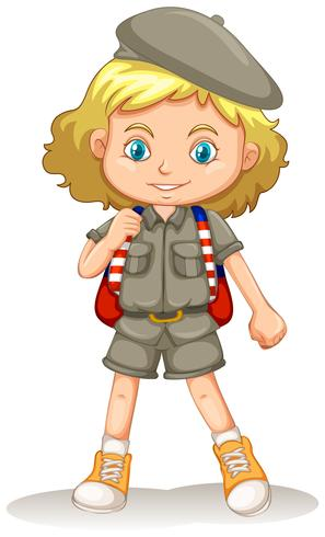 A young Girl Scout vector