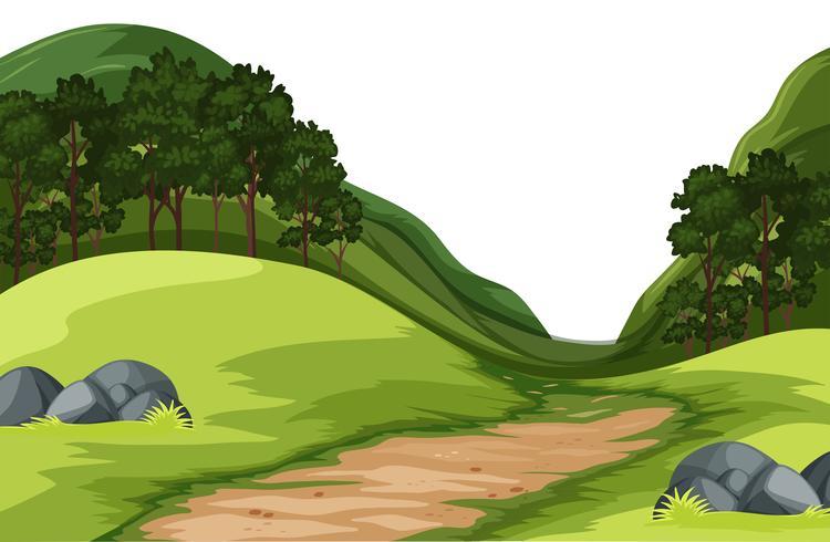 Ett grönt naturlandskap
