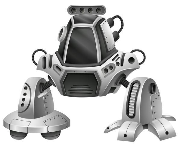Un robot moderno en el fondo blanco vector