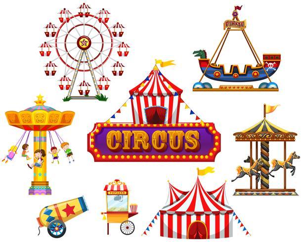 Een circus- en festivalelement