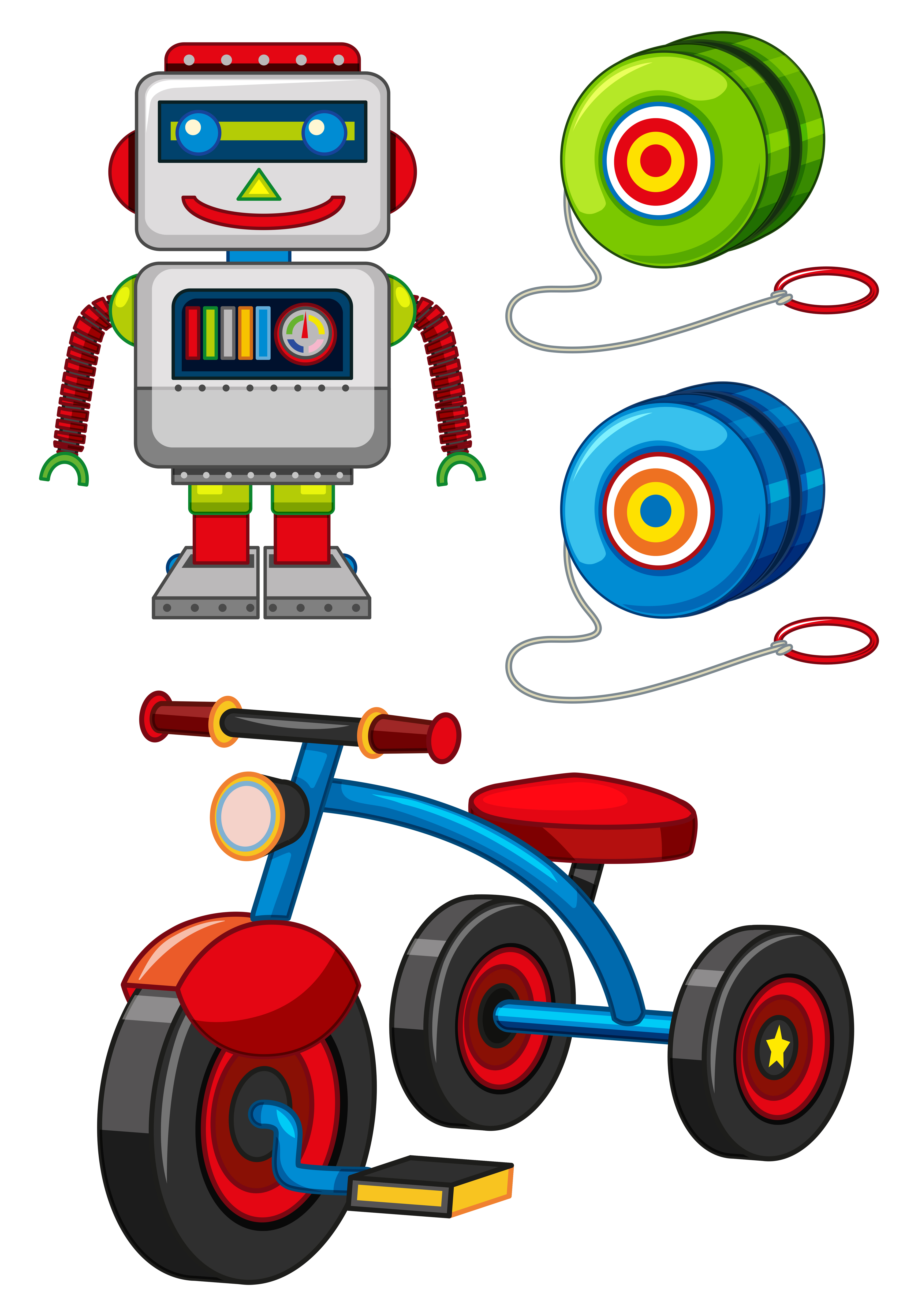 Many toys on white background - Download Free Vectors ...