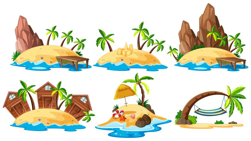 Set di collezione dell'isola
