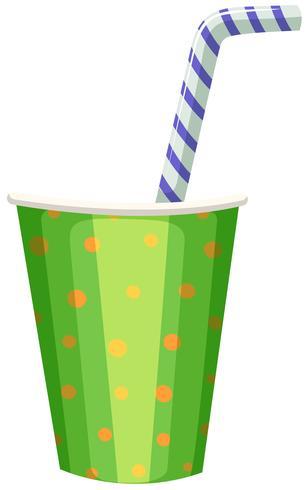 Taça de festa com palha listrada