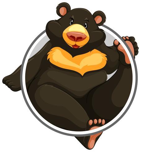 Bear in circle banner