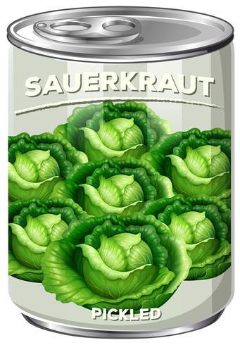 A Can of Pickled Sauerkraut