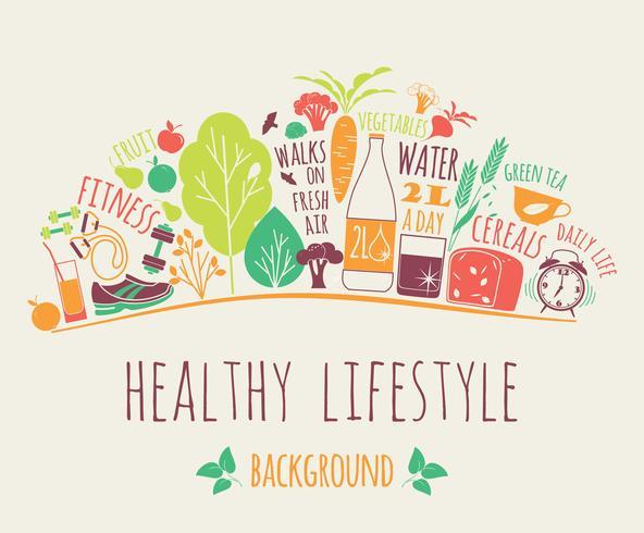 Healthy lifestyle vector illustration.