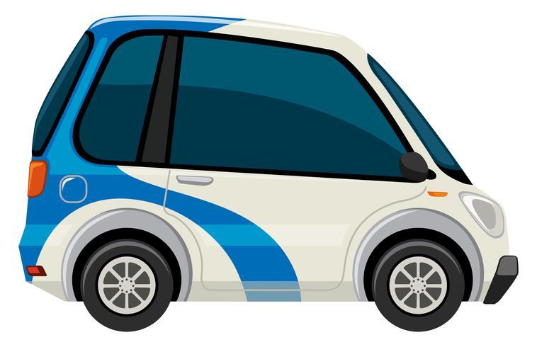 Un'auto elettrica su sfondo bianco