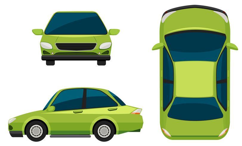 A green vehicle vector